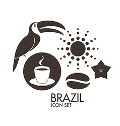 Brazil Icon set vector image vector image