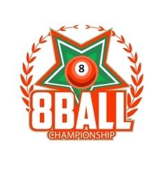 Design Billiards pool and snooker sport vector image