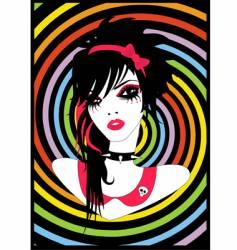 emo princess vector image