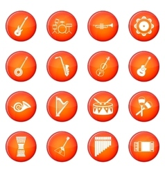 Musical instruments icons set vector image vector image