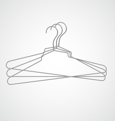 Set of metal hanger vector