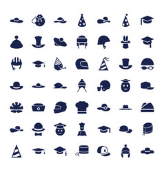 49 hat icons vector