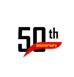 50th anniversary abstract logo fifty happy vector image