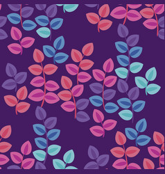 abstract blossom foliage flat seamless pattern vector image
