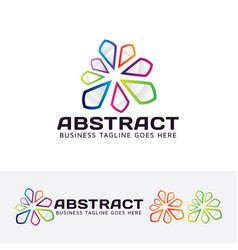 abstract logo design vector image
