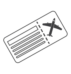 Airline ticket pass airplane thin line vector