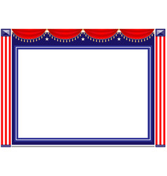 american holiday frame background vector image