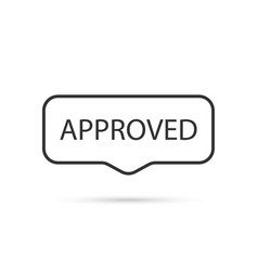 approved stamp tag approved in flat style design vector image