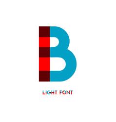 B light font template design vector