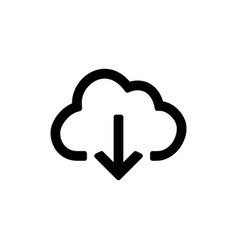 Backup and restore data cloud icon for simple vector