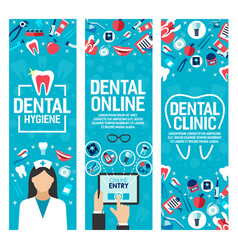 banners for dental health clinic vector image