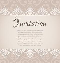 baroque damask luxury invitation vector image