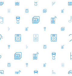bass icons pattern seamless white background vector image
