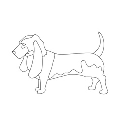 Basset hound linear style vector