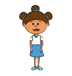 Beautiful little girl character vector