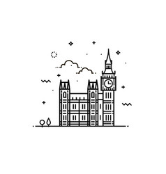 Big ben clock icon sign design vector