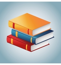 Book of education and literature concept vector