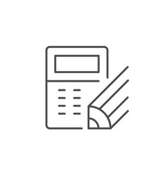 Calculation process line outline icon vector