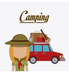 Camping travel and vacations vector