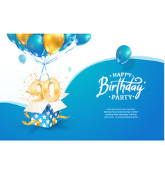 Celebrating 90th years birthday vector