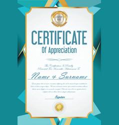 certificate retro design template 39 vector image