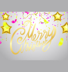christmas xmas holiday lettering design party vector image