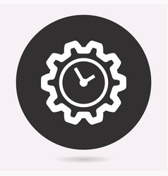 Clock time icon deadline symbol vector