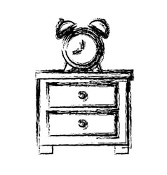 clock with bells vector image vector image