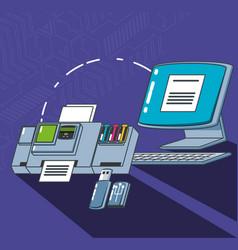 Computer technology set gadgets vector