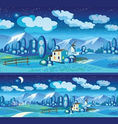 countryside at night vector image
