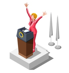 Election Infographic Party Rally Isometric People vector image