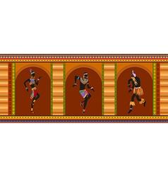 Ethnic dance african people vector