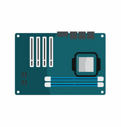 flat hardware motherboard icon for repair service vector image