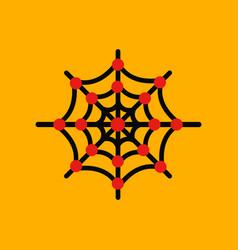 Flat icon stylish background spiders web vector