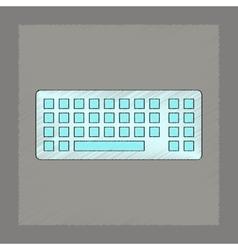 Flat shading style icon computer keyboard vector