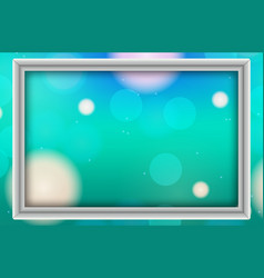 Frame template design with green light vector