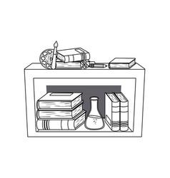 Furniture and school supplies design vector