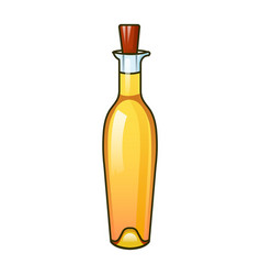 golden olive oil bottle icon cartoon style vector image