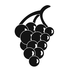 Grape for restaurant icon simple style vector