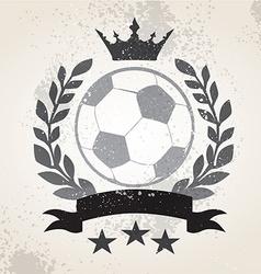 Grunge Soccer laurel weath vector image