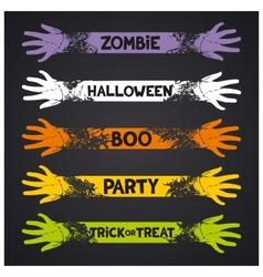 Halloween fun ribbons vector