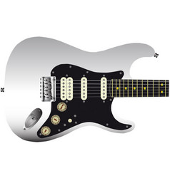 Hard tail guitar vector