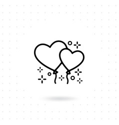 heart ballon icon vector image