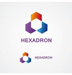 hexagon design logo vector image