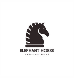 horse elephant logo vector image