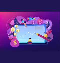 investment fund concept vector image