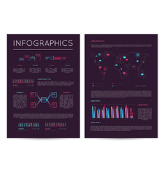 investment report with various infographics vector image