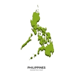 Isometric map of philippines detailed vector