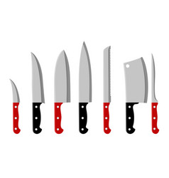 kitchen knifes cartoon set vector image