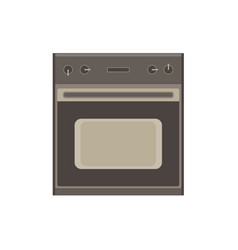 kitchen stove cooking gas home interior modern vector image